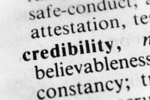 Credibility believability