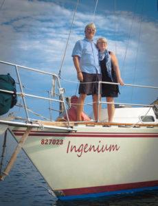 Boni & John on S/V Ingenium