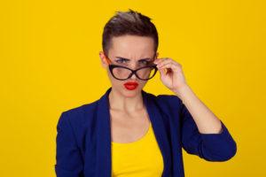 Businesswoman ego