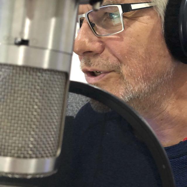 John narrating audiobook