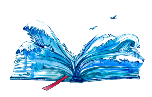 Blue Watercolour Book Transp